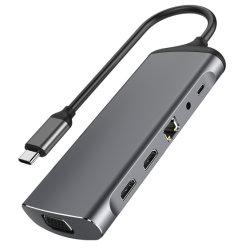 3 USB aおよび二重HDMI、VGAのUSB Cのアダプター111のアルミニウム