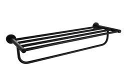 Quarto de banho Acessórios de hardware SS304 Barra de toalha de Segurança Cor Preta Duplo Toalhas W2122h