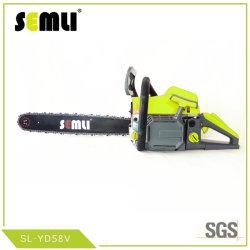58ccガソリン鎖はガソリンチェーンソーの木製の切削工具の園芸工具の動力工具を見た
