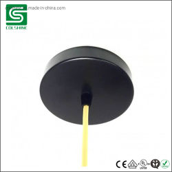 Металлический потолок закрывается на черный цвет освещения пульта управления