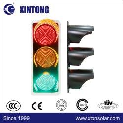 Bandera tricolor rojo, verde y amarillo Full LED Bola de luz de la señal de tráfico con carcasa de aluminio de plástico