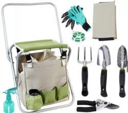 Conjunto de herramientas de jardín Jardín poliéster fuerte Asiento plegable con bolsa