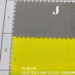 32/2*32/2 100*53 tingidos sólido 65/35 Padrão de poliéster/algodão tecido sarjado