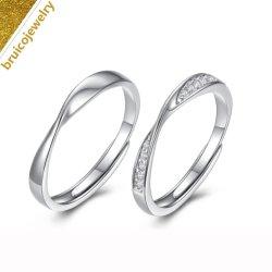 Großhandelsder diamant-Schmucksache-925 Goldschmucksache-Paar-Ring silberne Hochzeits-des Band-18K für Eingriff