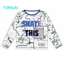 패턴 긴 소매 남자 아기 t-셔츠를 인쇄하는 O 목 만화 스웨터를 입어 아이