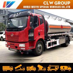 FAW 4X2 180HP 디젤 엔진 가솔린 납품 차량 14000 리터 연료 탱크 기름 수송 트럭