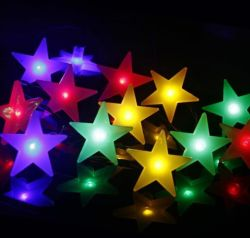 LED-weißer Solarstern beleuchtet Zeichenkette-Weihnachtsgarten-Feiertags-Lichter