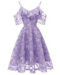 El verano Partysu elegante vestido Halter Floral off-Hombro cuello en V de manga corta vestido de deslizamiento