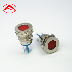16mmの金属のシグナル16mmのパネルの台紙の試験ランプLEDを防水しなさい