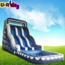 de grote opblaasbare trampoline van de waterdia, openluchtwaterdia met pool, opblaasbare het waterdia van Ce