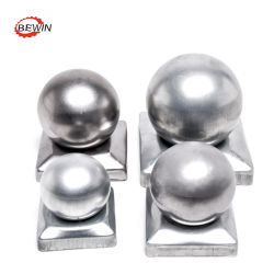 Topos de esferas material metálico régua de madeira tampa de post