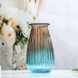 Vaso saltato mano colorato decorazione domestica di lusso di vetro del fiore di stile di modo grande