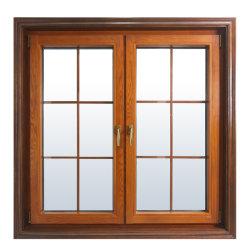 Pinho sólido Casement Round-Top arqueado e Larch Janela de madeira/inclinação da estrutura e gire a janela com o design da Grade