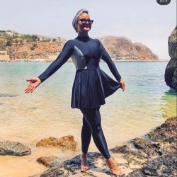 2021명의 숙녀 고전적인 겸손한 회교도 수영복 복장 전장 겸손한 수영복 운동복