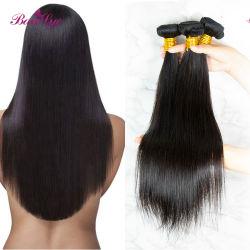 최상 100%년 Straigt 머리 직물은 브라질 Virgin 사람의 모발 연장을 묶는다