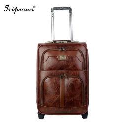 À la mode Business Valise Trolley case Mot de passe pu rouler des bagages en cuir