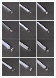 주문을 받아서 만들어진 LED 지구 유연한 알루미늄 단면도 각 구석에 의하여 거치되는 알루미늄 주거 호리호리한 선형 단면도 채널