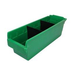 Selección de industriales de la caja de herramientas de almacenamiento de plástico para almacenamiento de piezas pequeñas en el almacén