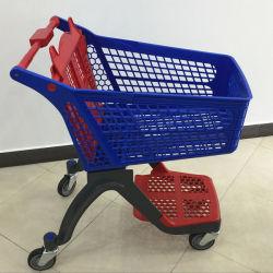 De online het Winkelen Supermarkt van het Karretje van de Duw van de Hand Alle Plastic Boodschappenwagentjes