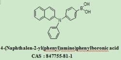 Mediatori 4 di OLED - (Naphthalen-2-yl (fenilico) amminico) acido 847755-81-1 di Phenylboronic