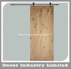 Z-Bar intérieur en bois d'Aulne noueux Grange Dalle de porte