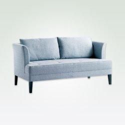 Couro genuíno estilo oriental dois Seat sofá de couro, Sofá Secional Sala Escura