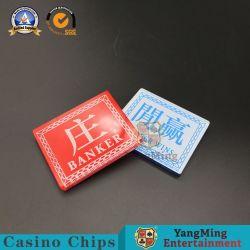 Spielende Schürhaken-Spiel-Händler-Tasteacrylbaccarat-Kasino-Spitze-Markierung