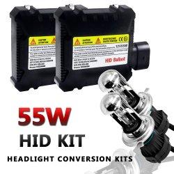 55W H4 HID 제논 키트 3000K 6000K 8000K 10000K 차량 전구