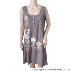O algodão Jersey Imprimir&Embro vestido para Mulheres