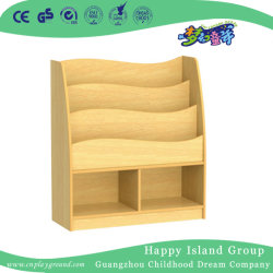Grano di legno dell'acero degli scolari che designa la mensola di libri (HG-4703)