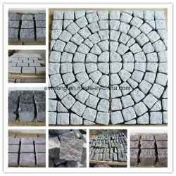 Entrada da garagem segura de granito/Mesa/Pedra de calçada cúbicos / Espalhadoras Stone em cinza/preto/vermelho/cor amarela para venda