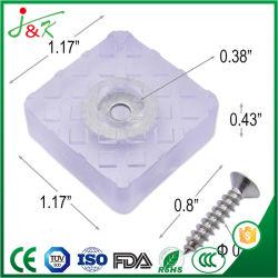 De rubber Stootkussens van de Voeten van het Meubilair van Vierkante Vorm (Zacht Silicone)