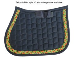 Colorida ecuestre de tuberías almohadillas de silla de montar a caballo (SMS3009)