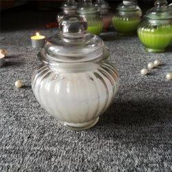 Azucena Aroma con la etiqueta de vela Bote de vidrio de alta calidad