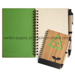 Neuer Entwurf bereitete Notizbücher mit Bambusdeckel auf