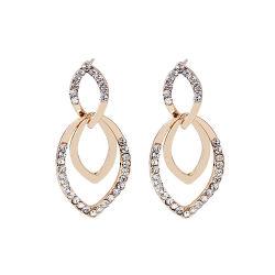 型の女性の方法宝石類の合金Rhinstoneは衣裳のイヤリングのスタッドの耳のAccessoreisの卸売をぶら下げる
