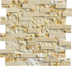 En marbre beige ensoleillée Golden Pierre de la culture revêtement mural