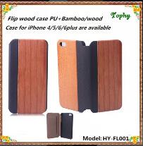 Новые поступления в реальном из естественной древесины дерева кожаный Flip крышки картера 5 для iPhone 5S 4 4s, Lether крышку деревянный чехол для iPhone 6 6plus, дерево Flip чехол для iPhone 5s
