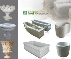 Venda por grosso de Qualidade Superior Jardim de granito tigela para decoração