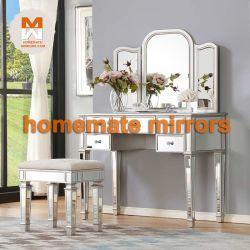 Haut de la qualité des prix bon marché meubles vénitiens miroir en verre d'une coiffeuse avec tiroir