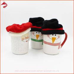 لطيف قبعة قبعة قبعة 3 قبعة كوب القهوة مجموعة من أجل هدية جميلة كأس قبعات expression مع غطاء سويتر