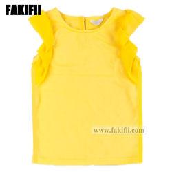 Les enfants de haute qualité de gros Cutomised/bébé fille d'usure des vêtements pour enfants volant Top Fashion Shirt en coton
