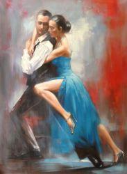 Репродукции шедевров Фабиана Перес танцы любителей живописи полотенного транспортера