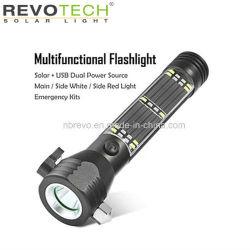 Lampe torche multifonctionnelle solaire en aluminium (RS-4000)