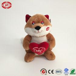 L'amour avec Kiss Sweet Fox câlin coeur un jouet en peluche personnalisé
