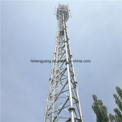هوائي ثلاثي الساق برج الاتصالات الهوائي 3 ساق شبكة الصلب المجلفنة شبكة لاسلكية من الجيل الرابع BTS GSM TV Signal Communication Radio Tower