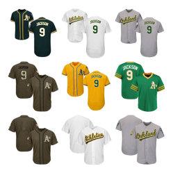 남자 여자 유스 Athletics Jerseys 9 Regie Jackson Baseball Jerseys