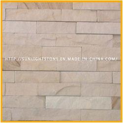 Jaune naturel/Rusty/Blanc/Noir panneau mural de placage de pierre de toiture en ardoise de quartzite