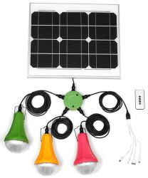 Mini Solar Power Home Kits de Système d'éclairage LED avec chargeur