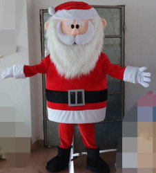 고품질 성숙한 산타클로스 한 벌 아버지 크리스마스 마스코트 복장